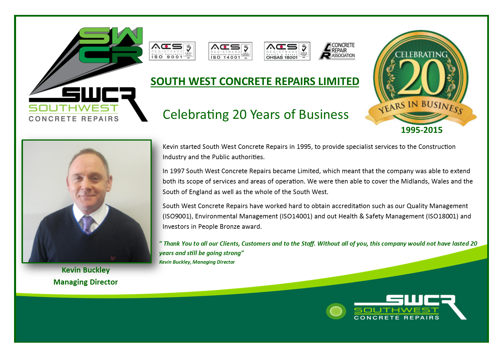 SWCR business celebration