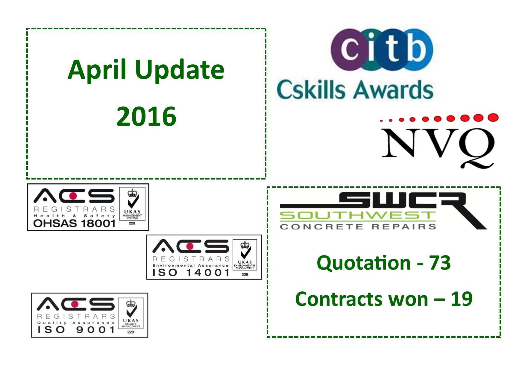 April update graphic
