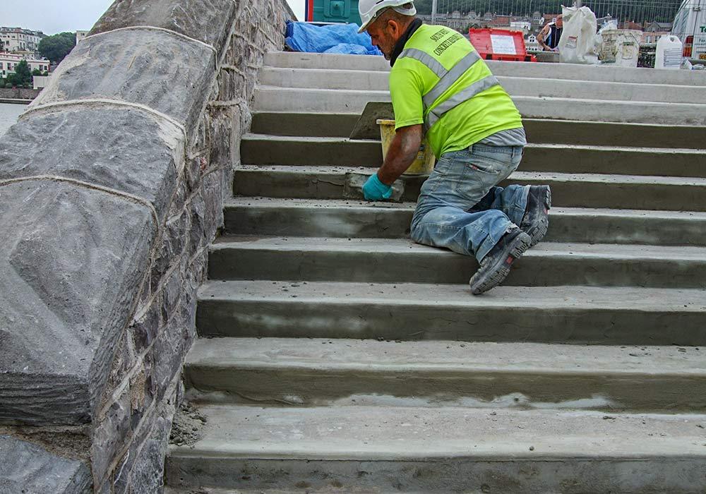 Concrete repair stairs