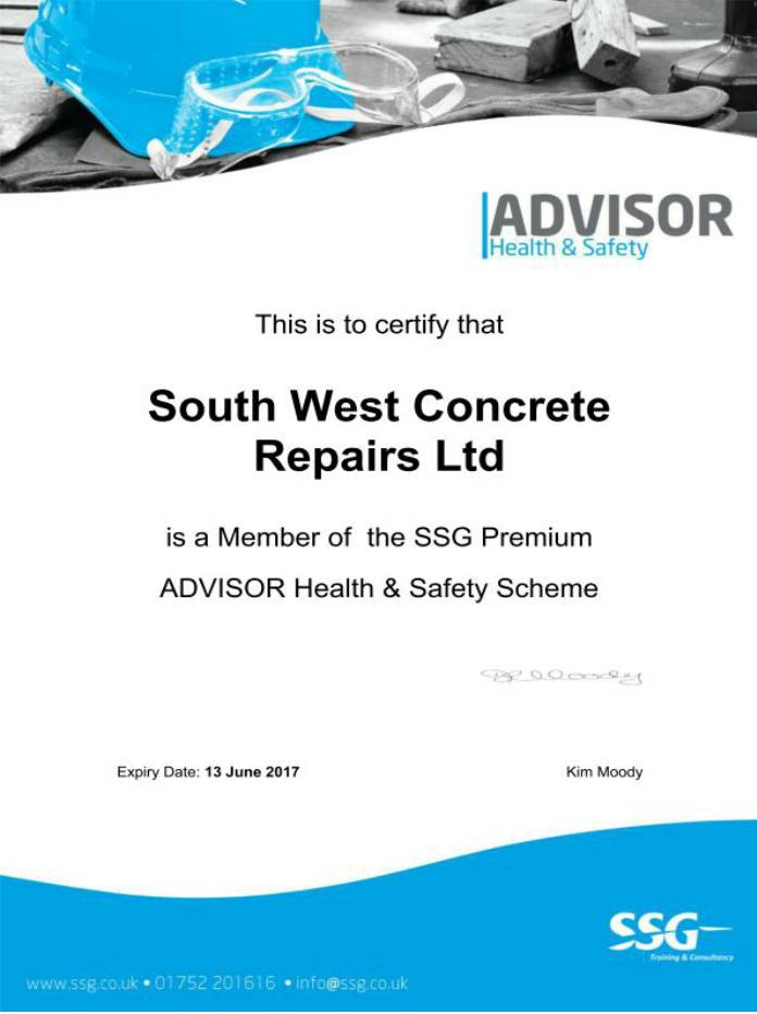 health safety south west concrete advisor SSG membership