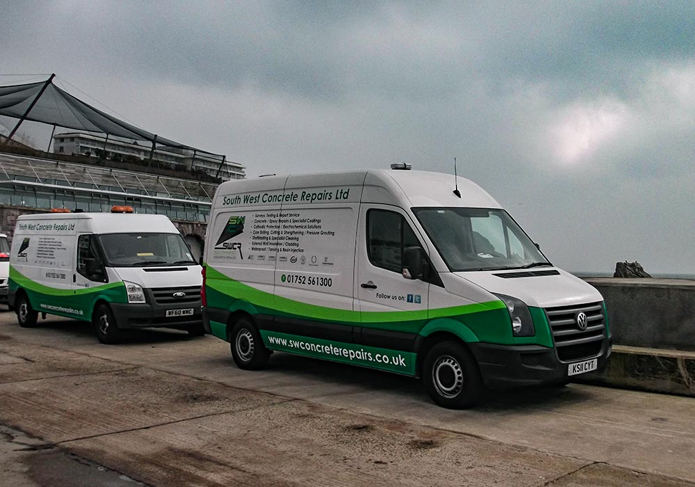vans new van parking south west concrete repairs