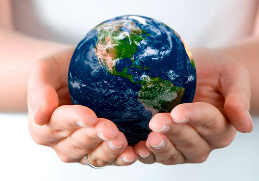 south west concrete environmental awareness globe hands